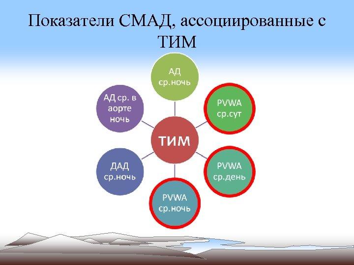Показатели СМАД, ассоциированные с ТИМ
