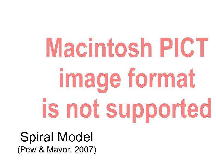 Spiral Model (Pew & Mavor, 2007)
