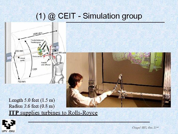 (1) @ CEIT - Simulation group Length 5. 0 feet (1. 5 m) Radius