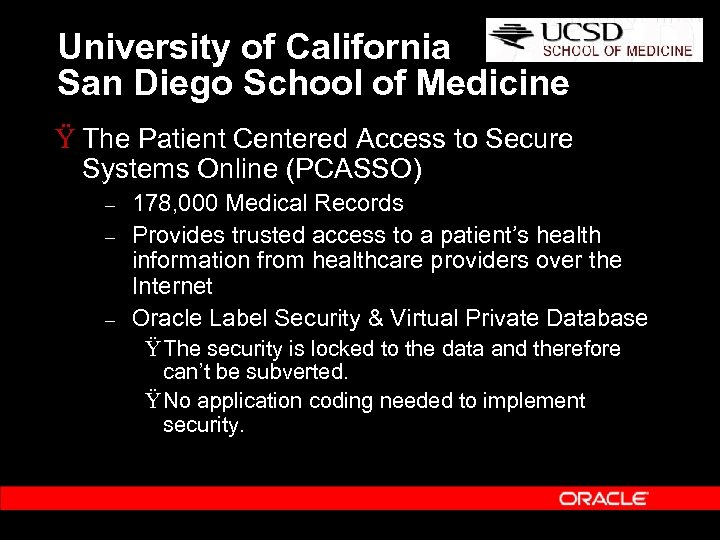 University of California San Diego School of Medicine Ÿ The Patient Centered Access to