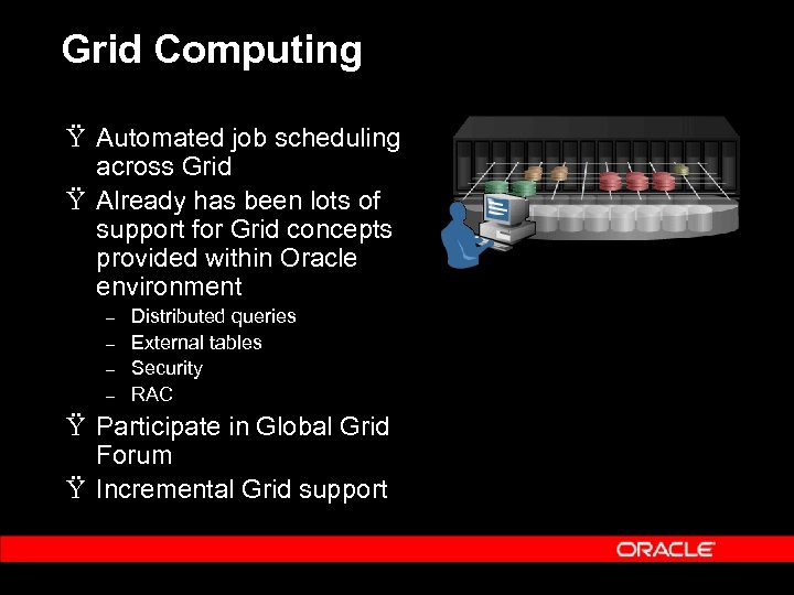 Grid Computing Ÿ Automated job scheduling across Grid Ÿ Already has been lots of
