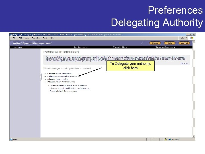 Preferences Delegating Authority To Delegate your authority, click here