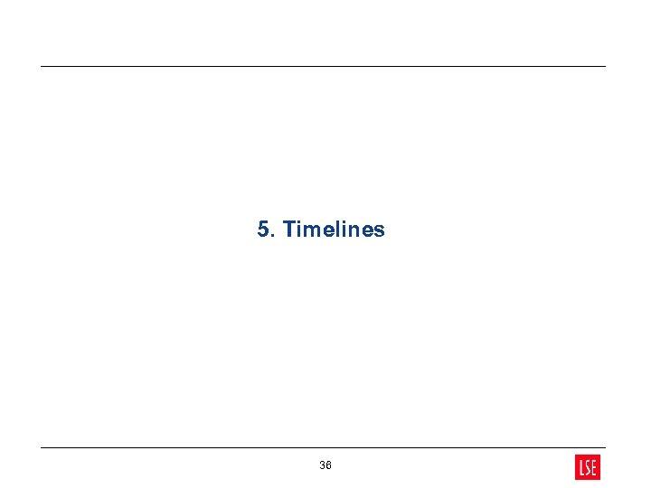 5. Timelines 36