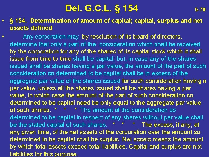 Del. G. C. L. § 154 5 -70 • § 154. Determination of amount