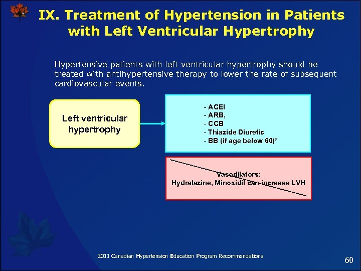 IX. Treatment of Hypertension in Patients with Left Ventricular Hypertrophy Hypertensive patients with left