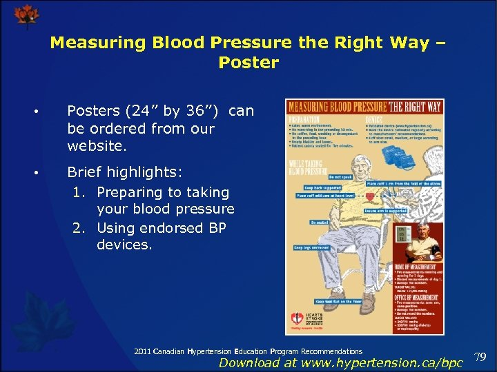 Measuring Blood Pressure the Right Way – Poster • Posters (24'' by 36'') can