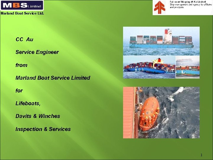 Marland Boat Service Ltd. CC Au Service Engineer from Marland Boat Service Limited for