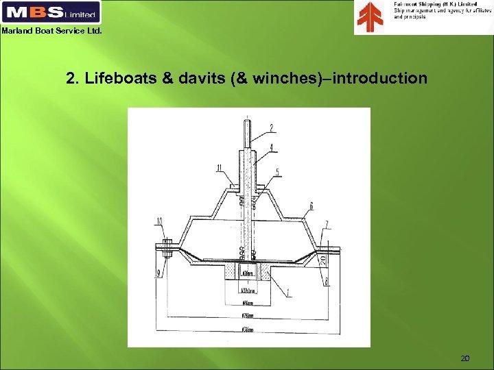 Marland Boat Service Ltd. 2. Lifeboats & davits (& winches)–introduction 20