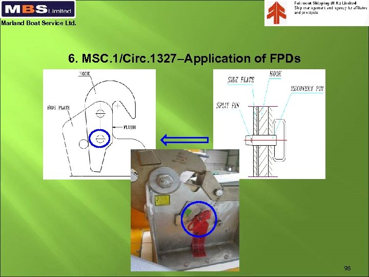 Marland Boat Service Ltd. 6. MSC. 1/Circ. 1327–Application of FPDs 98