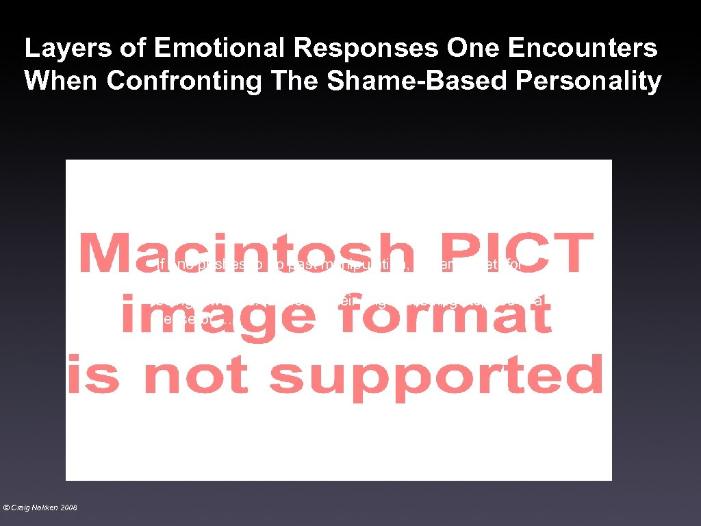 Layers of Emotional Responses One Encounters When Confronting The Shame-Based Personality If one pushes