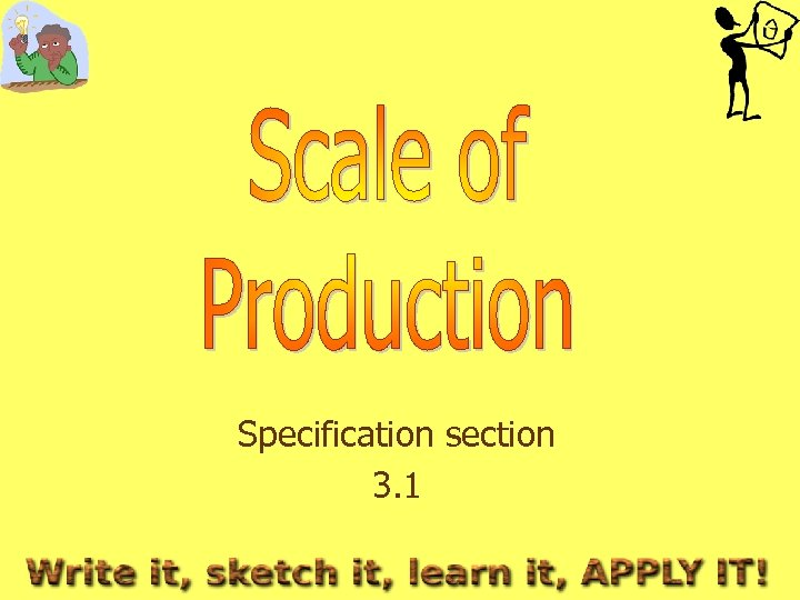 Specification section 3. 1