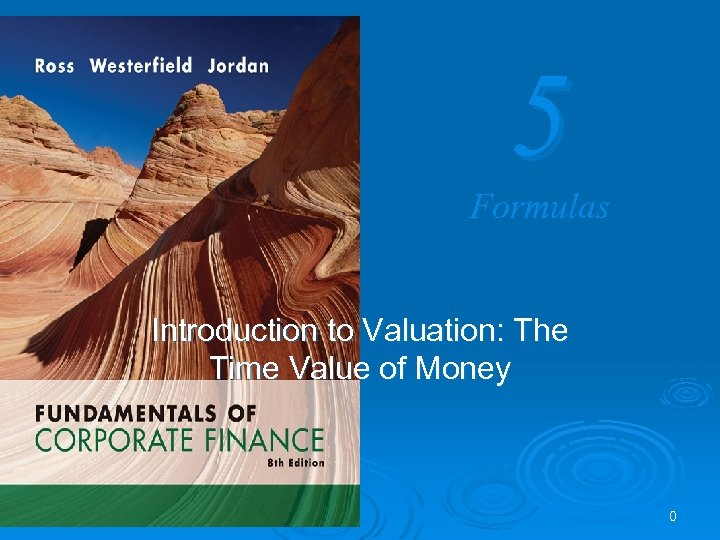 5 Formulas Introduction to Valuation: The Time Value of Money 0