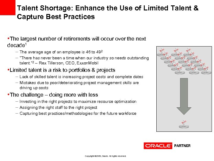 Talent Shortage: Enhance the Use of Limited Talent & Capture Best Practices • The