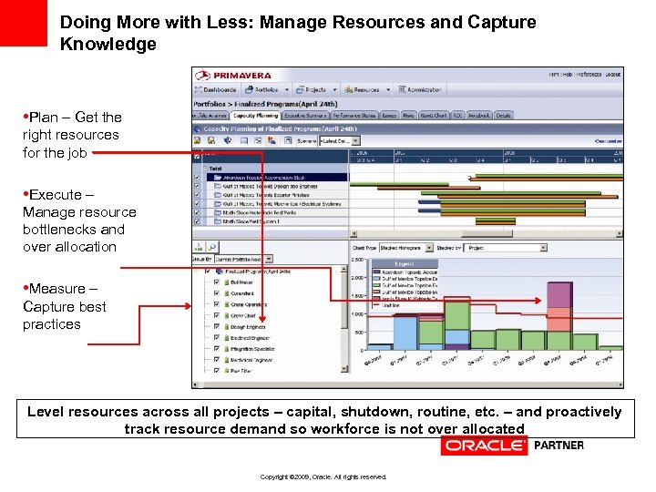 Doing More with Less: Manage Resources and Capture Knowledge • Plan – Get the