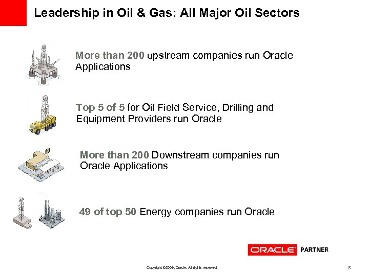 Leadership in Oil & Gas: All Major Oil Sectors More than 200 upstream companies