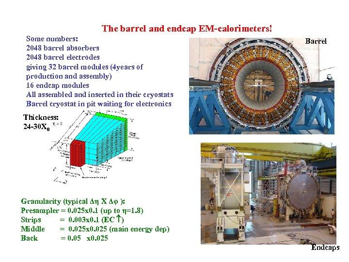 The barrel and endcap EM-calorimeters! Some numbers: 2048 barrel absorbers 2048 barrel electrodes giving