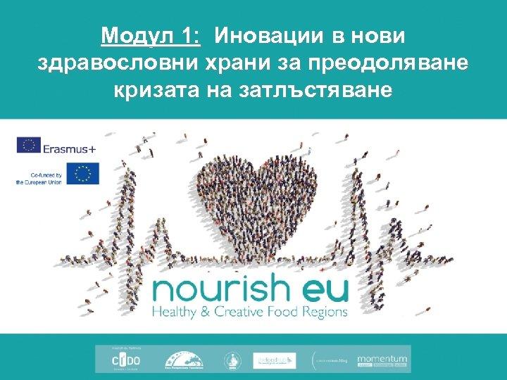Модул 1: Иновации в нови здравословни храни за преодоляване кризата на затлъстяване