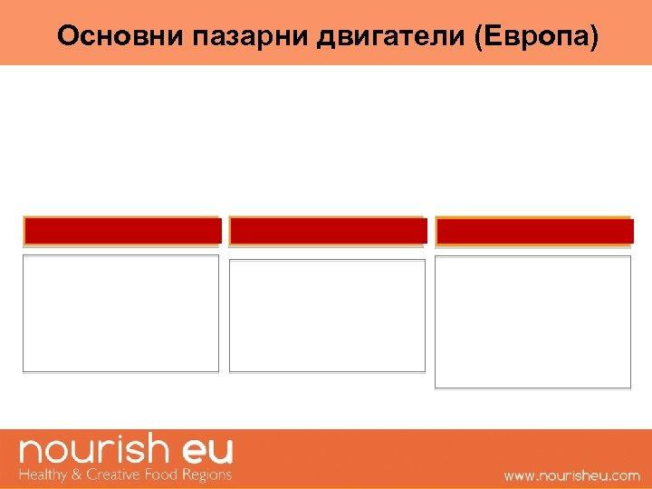 Основни пазарни двигатели (Европа)