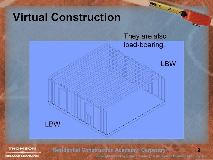 Virtual Construction They are also load-bearing. LBW 9