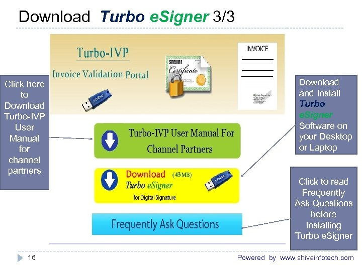 Download Turbo e. Signer 3/3 ------------------------------------------------------- Click here to Download Turbo-IVP User Manual for