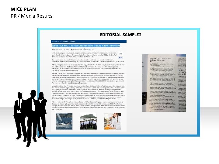 MICE PLAN PR / Media Results EDITORIAL SAMPLES