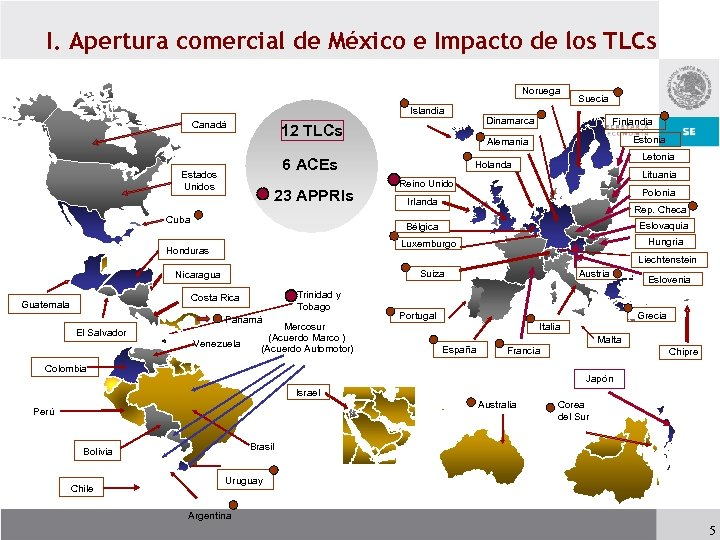 I. Apertura comercial de México e Impacto de los TLCs Noruega Islandia Canadá 23