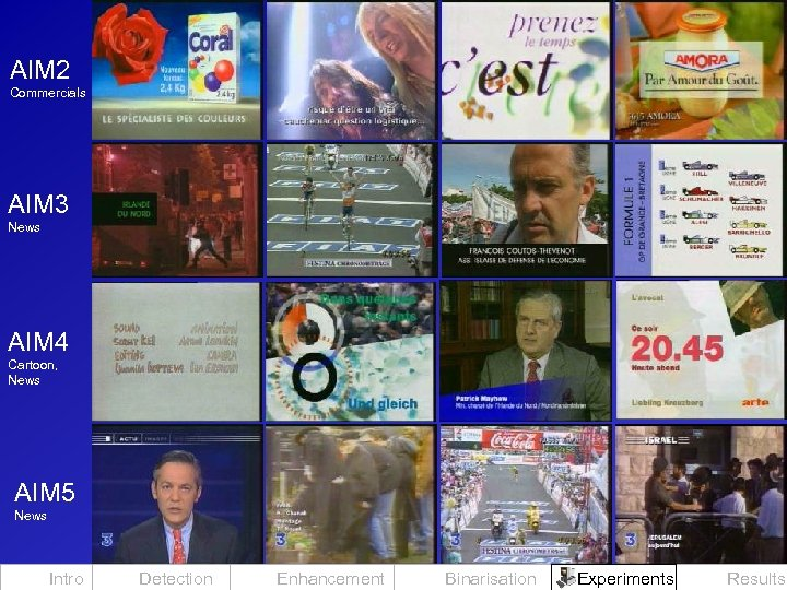 AIM 2 Commercials AIM 3 News AIM 4 Cartoon, News AIM 5 News Intro