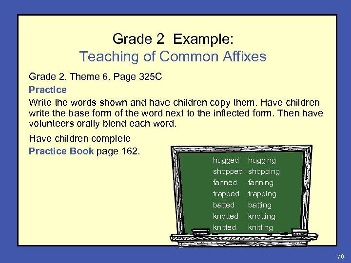 Grade 2 Example: Teaching of Common Affixes Grade 2, Theme 6, Page 325 C