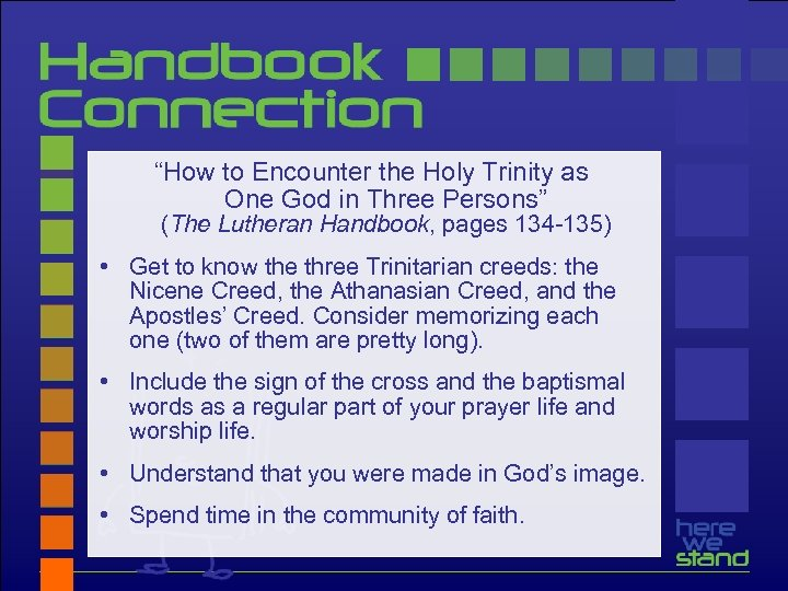 """""""How to Encounter the Holy Trinity as One God in Three Persons"""" (The Lutheran"""