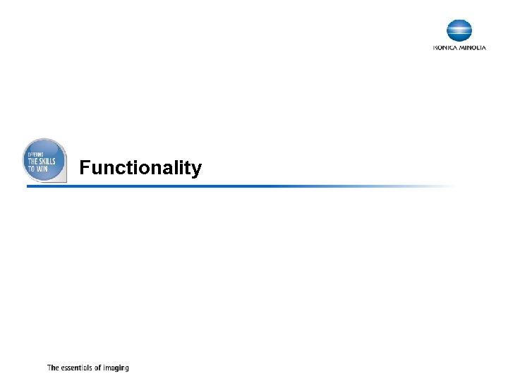 Functionality 19