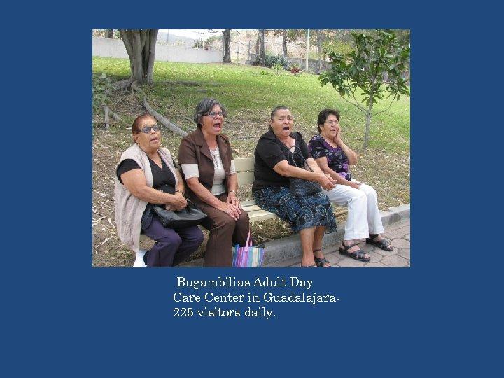 Bugambilias Adult Day Care Center in Guadalajara 225 visitors daily.