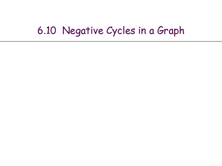 6. 10 Negative Cycles in a Graph
