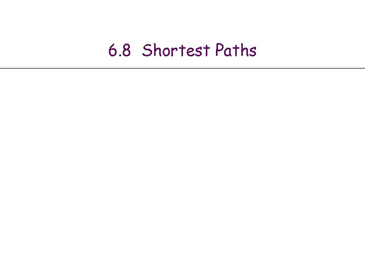 6. 8 Shortest Paths