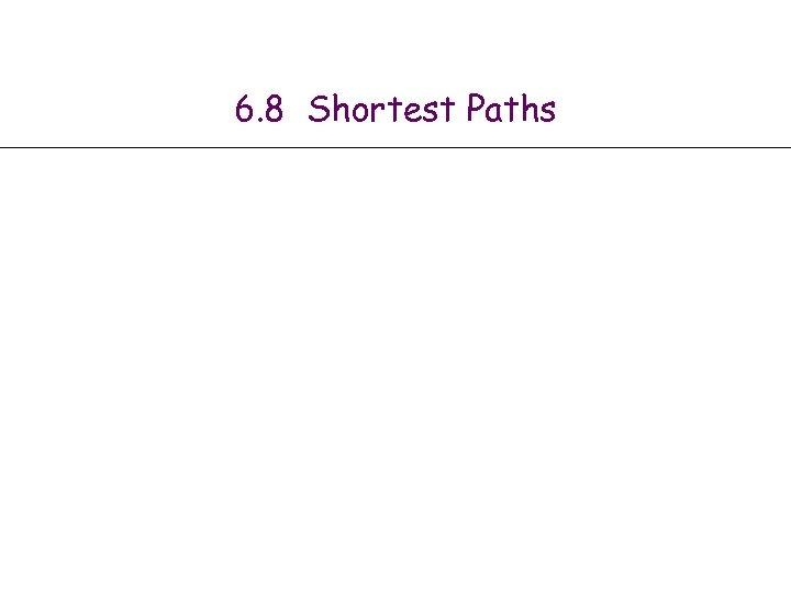 6. 8 Shortest Paths