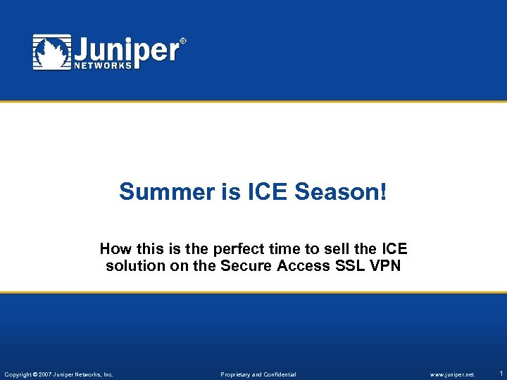 Summer is ICE Season! How this is the perfect time to sell the ICE