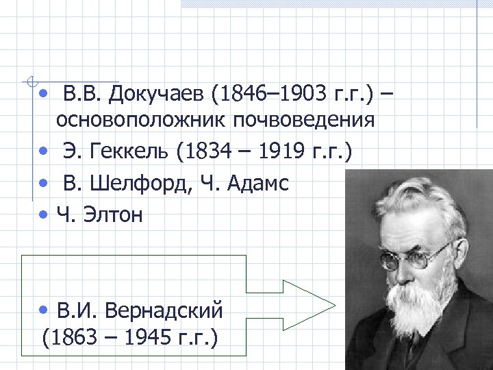• В. В. Докучаев (1846– 1903 г. г. ) – основоположник почвоведения •
