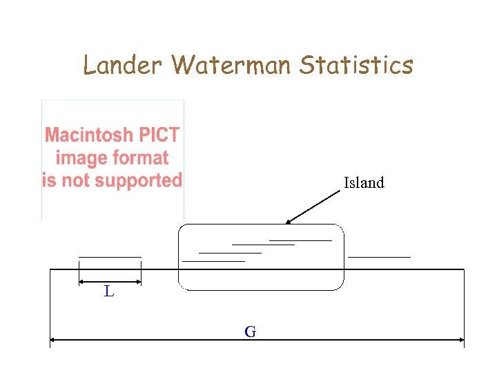 Lander Waterman Statistics Island L G
