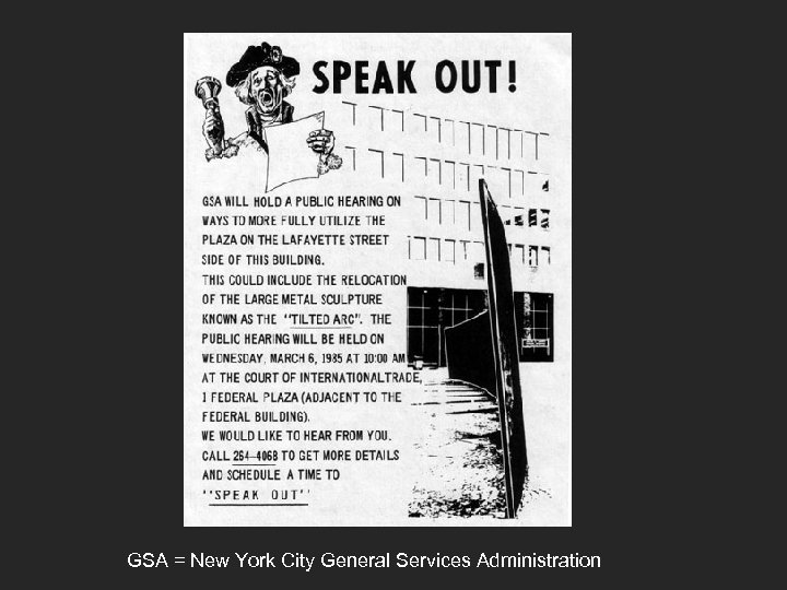 GSA = New York City General Services Administration