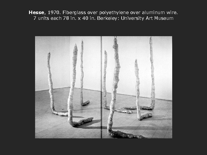 Hesse, 1970. Fiberglass over polyethylene over aluminum wire. 7 units each 78 in. x