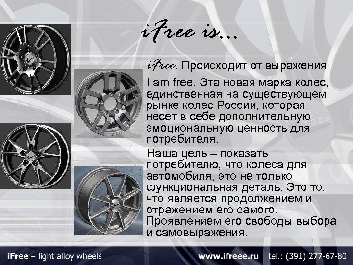 i. Free is… i. Free. Происходит от выражения I am free. Эта новая марка