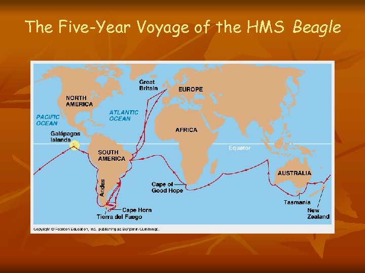 The Five-Year Voyage of the HMS Beagle