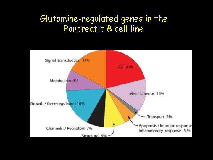 Glutamine-regulated genes in the Pancreatic B cell line