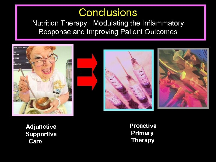 Conclusions Nutrition Therapy : Modulating the Inflammatory Response and Improving Patient Outcomes Adjunctive Supportive