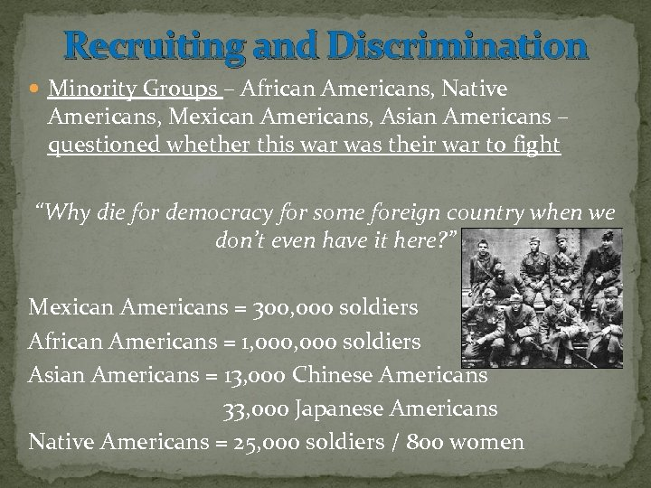 a look at the discrimination and prejudice against african americans and japanese americans Discrimination lives within everyone - racial discrimination has affected the world in many ways historically in the united states there have always been racial issues between the african americans and white americans.