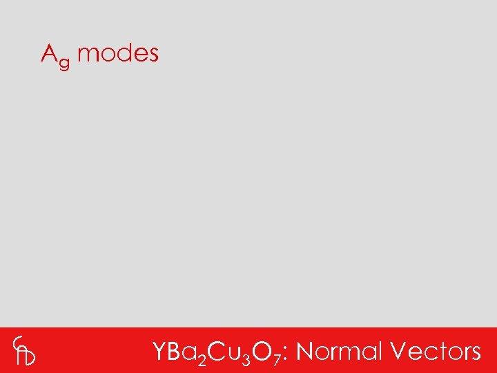 Ag modes YBa 2 Cu 3 O 7: Normal Vectors