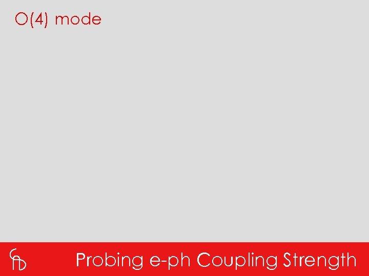 O(4) mode Probing e-ph Coupling Strength