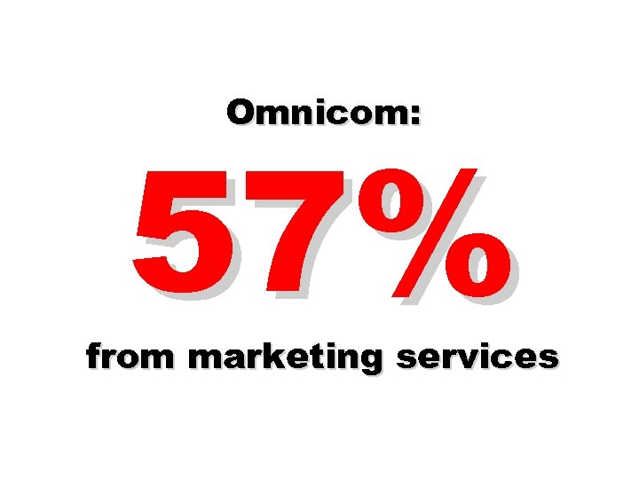 Omnicom: 57% from marketing services