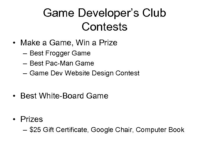Game Developer's Club Contests • Make a Game, Win a Prize – Best Frogger