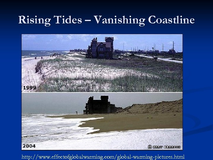 Rising Tides – Vanishing Coastline http: //www. effectofglobalwarming. com/global-warming-pictures. html