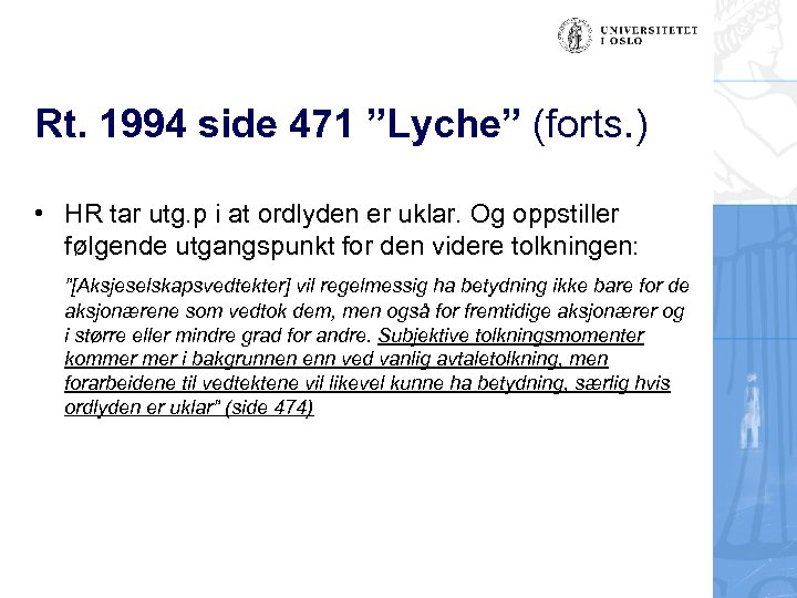 "Rt. 1994 side 471 ""Lyche"" (forts. ) • HR tar utg. p i at"